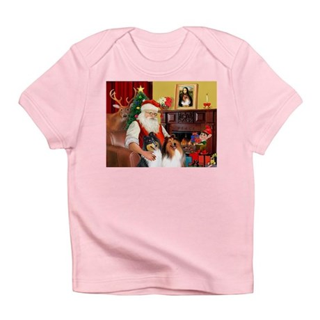 Santa's Collie pair Infant T-Shirt