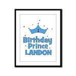 1st Birthday Prince Landon! Framed Panel Print
