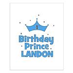 1st Birthday Prince Landon! Small Poster