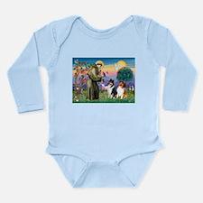 St Francis / Collie Pair Long Sleeve Infant Bodysu