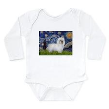 Starry Night/Coton Long Sleeve Infant Bodysuit