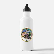 XmasMagic/2 Dachshunds Water Bottle