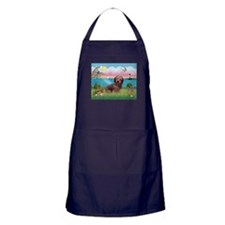 Lighthouse / Dachshund Apron (dark)