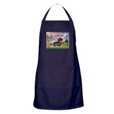 Cloud Angel & Dachshund (WH) Apron (dark)