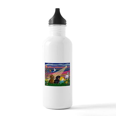 Magical Night / Two Dachshund Stainless Water Bott