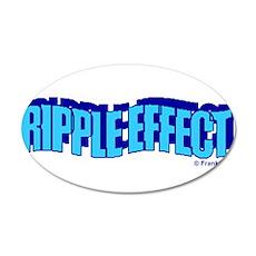 RIPPLE EFFECT 22x14 Oval Wall Peel