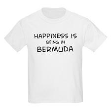 Happiness is Bermuda Kids T-Shirt