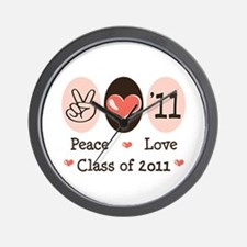 Peace Love Class of 2011 Wall Clock