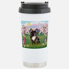 Blossoms & French Bulldog Travel Mug