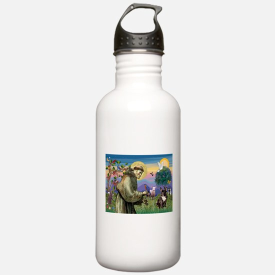 St. Francis Brindle Frenchie Water Bottle