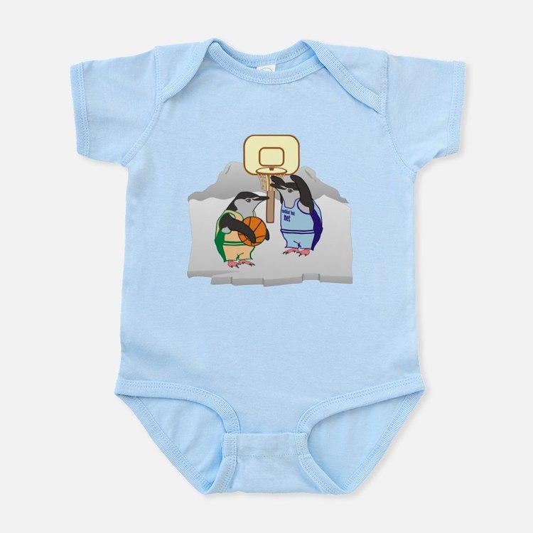 Penguin Basketball Infant Bodysuit