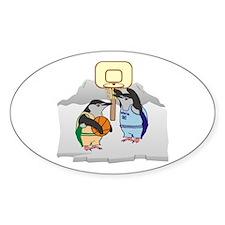 Penguin Basketball Decal