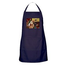 Santas Gold Retriever Apron (dark)