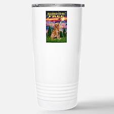 Free / Golden Stainless Steel Travel Mug