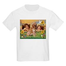 Angels & Golden Retriever T-Shirt