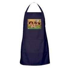 Angels & Golden Retriever Apron (dark)