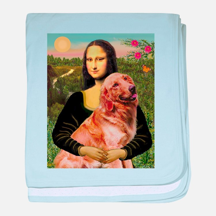 Mona's Golden baby blanket