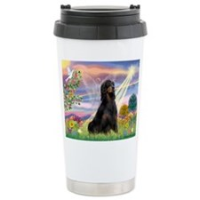 Cloud Angel & Gordon Setter Travel Mug