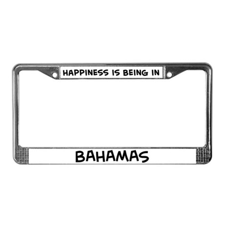 Happiness is Bahamas License Plate Frame