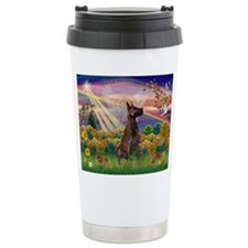Autumn Angel & Great Dane Travel Mug