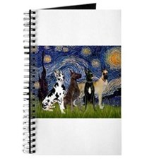 Starry Night / 4 Great Danes Journal