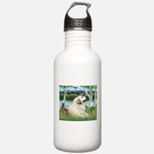 Country Birches & Great Pyrenees Water Bottle