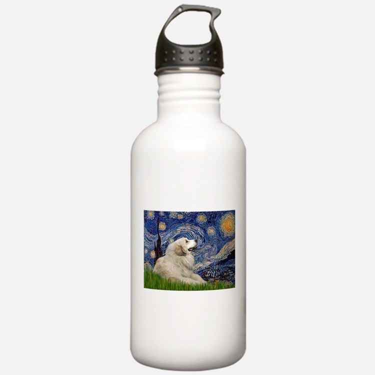 Starry Night Great Pyrenees Water Bottle