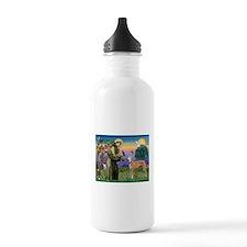 St Francis / Greyhound (f) Water Bottle
