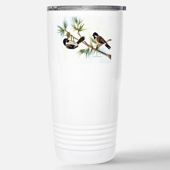Two Chickadees Stainless Steel Travel Mug