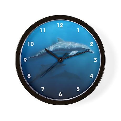 Dolphin Swim Wall Clock