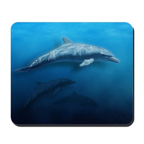 Dolphin Swim Mousepad