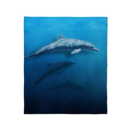 Dolphin Swim Throw Blanket