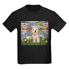 Lilies & Havanese Pup T