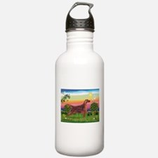 Irish Setter in Bright Countr Water Bottle
