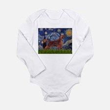 Starry Night Irish Setter Long Sleeve Infant Bodys