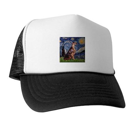 Starry Night Irish Setter Trucker Hat