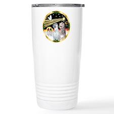 XmasDove/Irish Wolfhound pair Travel Mug