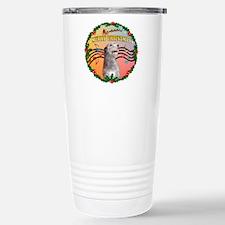 XmasMusic2/Irish Wolfhound Travel Mug