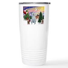 Treat for Santa's Irish Wolfh Travel Mug