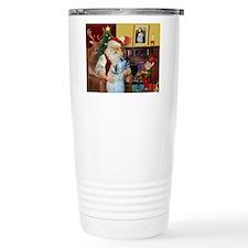 Santa's Irish Wolfhound Travel Mug