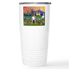Irish Elf & Irish Wolfhound Travel Mug
