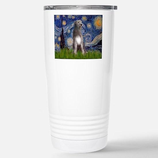 Starry/Irish Wolfhound Stainless Steel Travel Mug