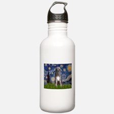 Starry/Irish Wolfhound Water Bottle