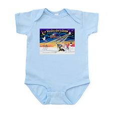 XmasSunrise/4 Ital Greyhnds Infant Bodysuit