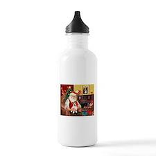 Santa's JRT pup Water Bottle