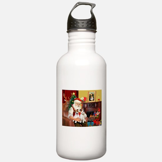 Santa's 2 JRT's Water Bottle