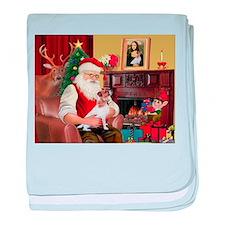 Santa's Jack Russell baby blanket