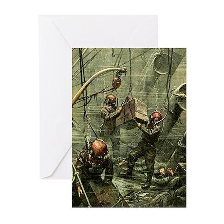 Deep Sea Divers Greeting Cards (Pk of 10)