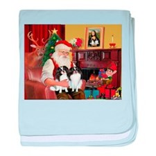 Santa's 2 Japanese Chins baby blanket