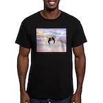 Japanese Chin Angel Men's Fitted T-Shirt (dark)